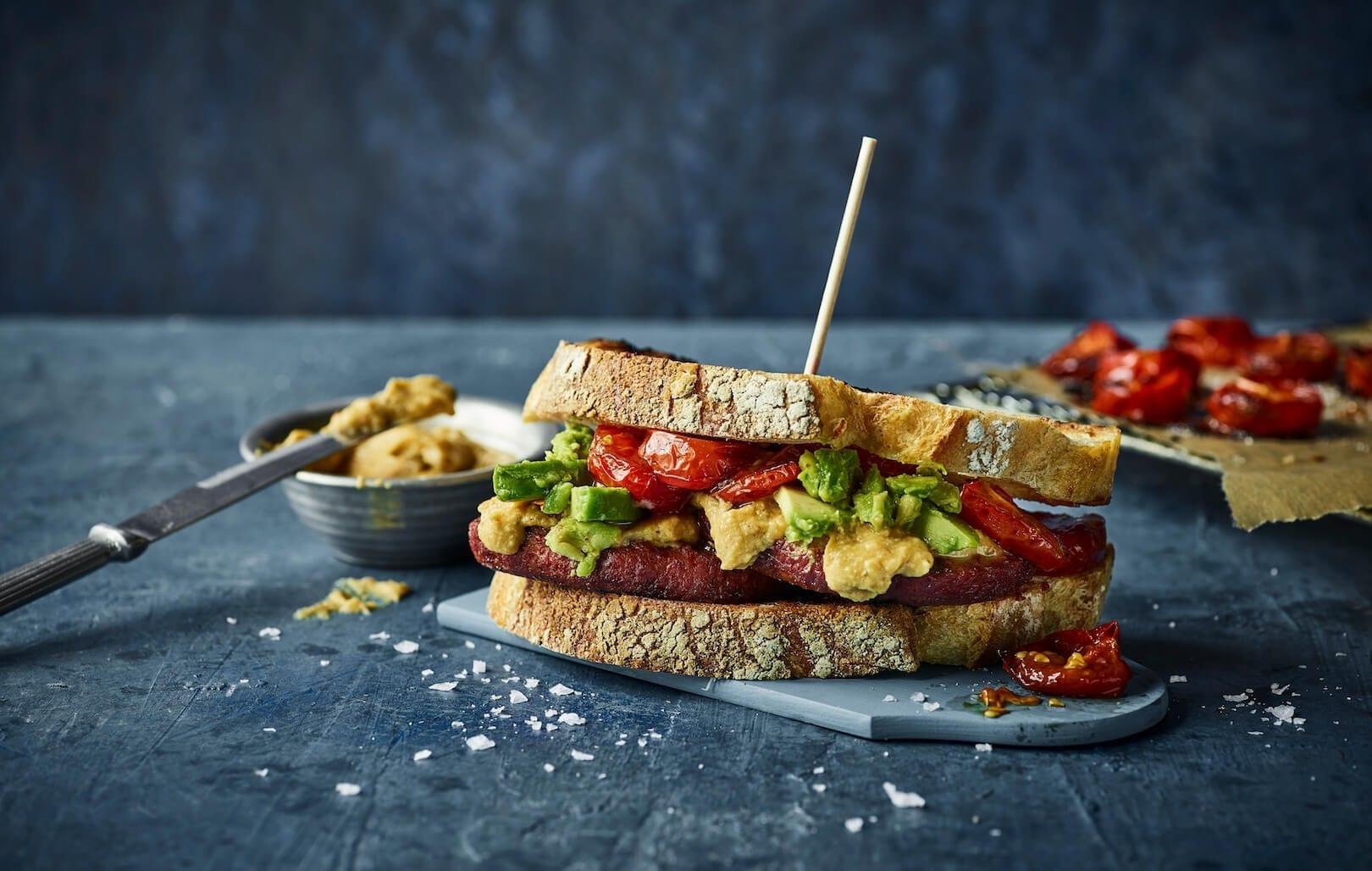 Naturli Fars opskrift - Breakfast Burger Sandwich